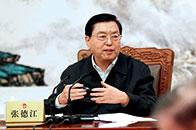 张德江:深入学习贯彻党的十八届六中全会和中央纪委七次全会精神,继续把党风廉政建设和反腐败斗争引向深入
