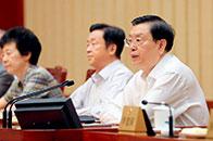 张德江:国家安全是安邦定国的基石。本届常委会坚决贯彻落实党中央关于加快国家安全法治建设的重大决策部署,积极推进国家安全领域立法工作