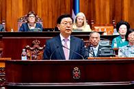 张德江:不断提升两国关系的战略性、全面性,进一步扩大双边投资和贸易规模,推进人文交流,开创中塞全面战略伙伴关系更加美好的未来