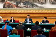 习近平参加十三届全国人大二次会议内蒙古代表团政府工作报告审议