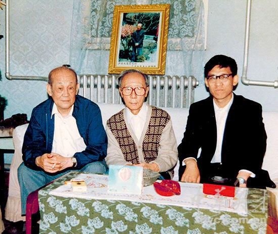 【16】贾英华与李文达(左)在溥杰(中)家作客